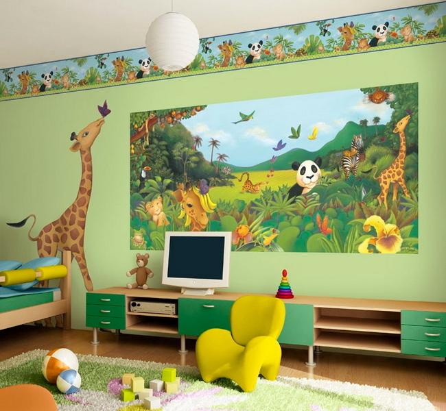 Джунгли в детской комнате