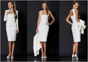 Подбираем шикарное белое платье для офиса или вечеринки