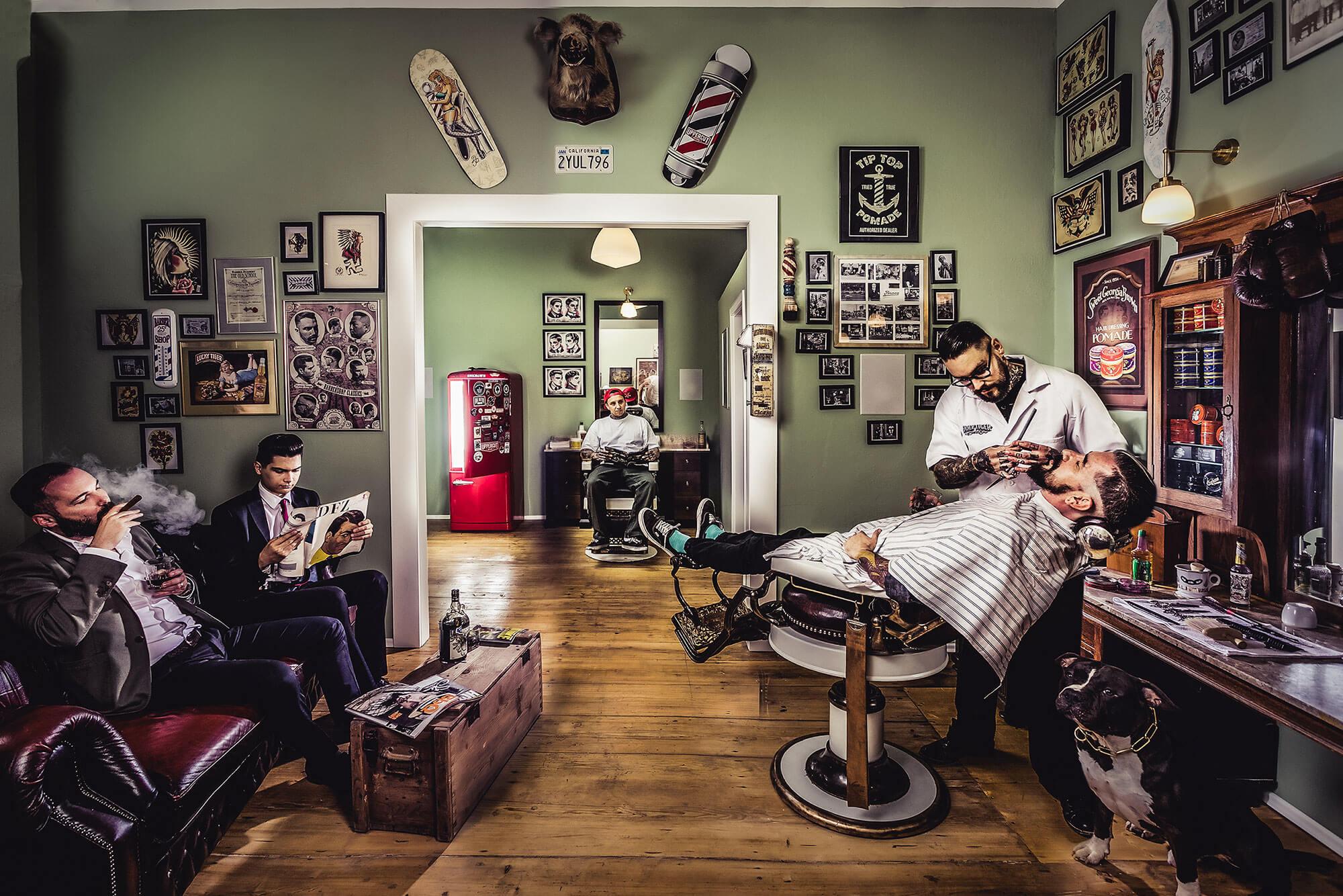 Barbershops - правильное кресло для настоящего джентльмена