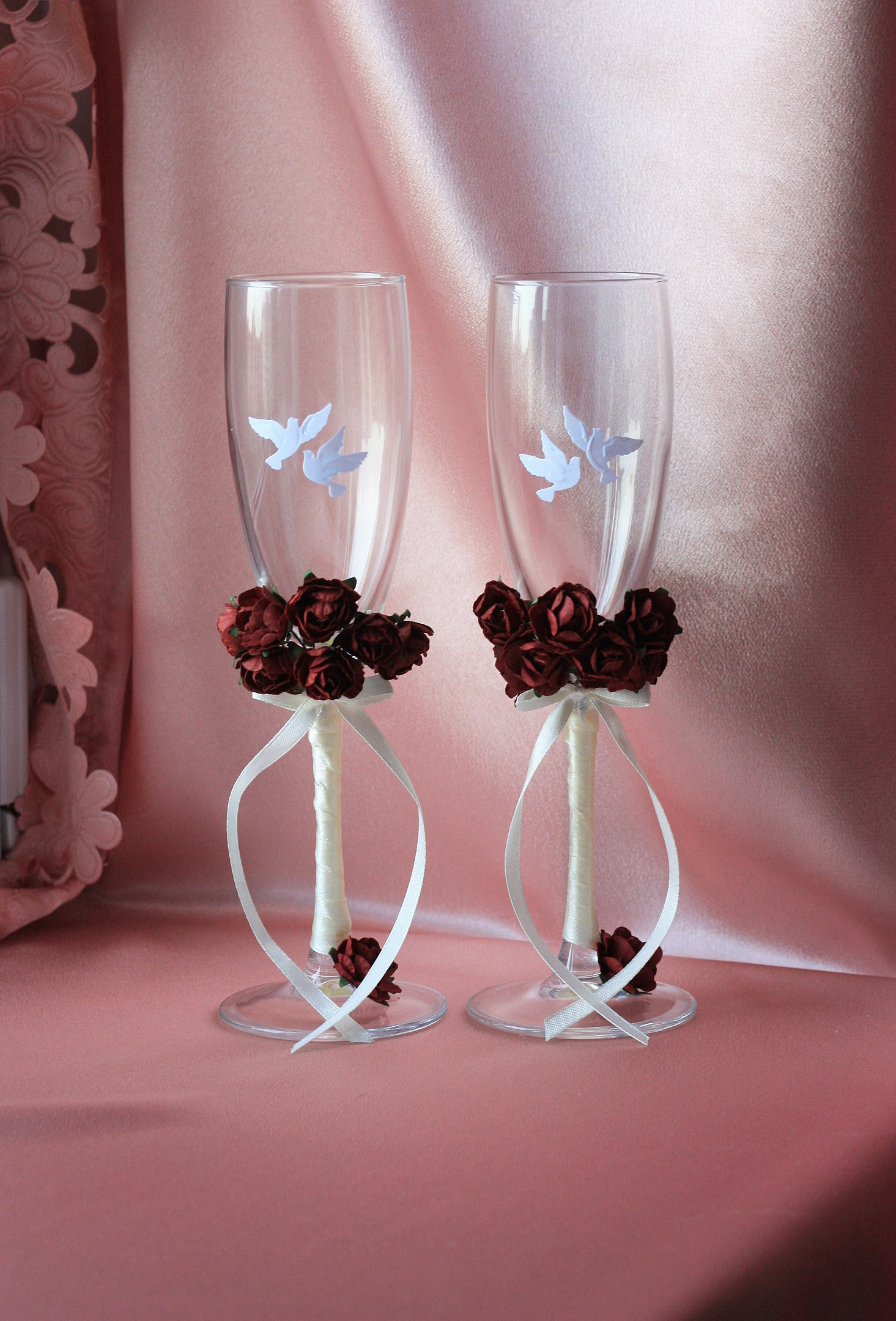 Варианты заказа свадебных бокалов