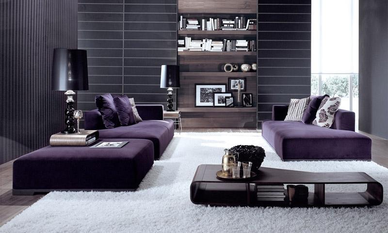 Эффективное использование фиолетового цвета в интерьере